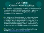 civil rights children with disabilities