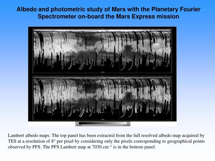 Albedo and photometric study of Mars with the Planetary Fourier