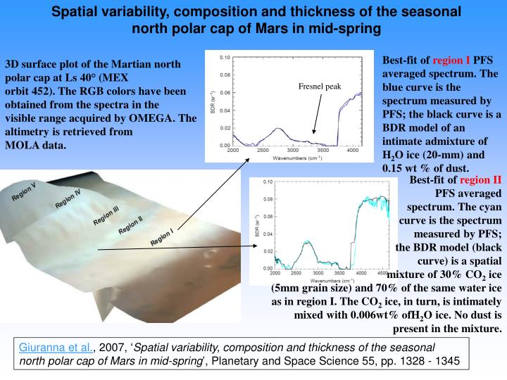Spatial variability, composition and thickness of the seasonal