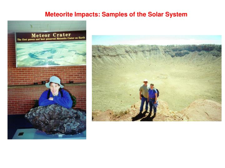 Meteorite Impacts: Samples of the Solar System