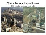chernobyl reactor meltdown 2 3 radiation increase world wide
