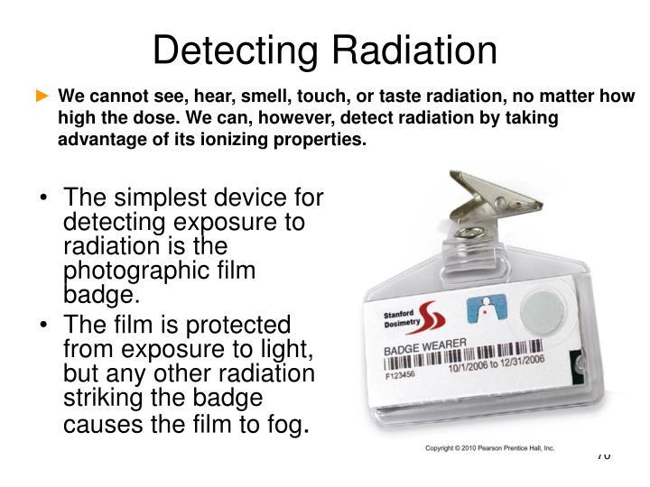 Detecting Radiation