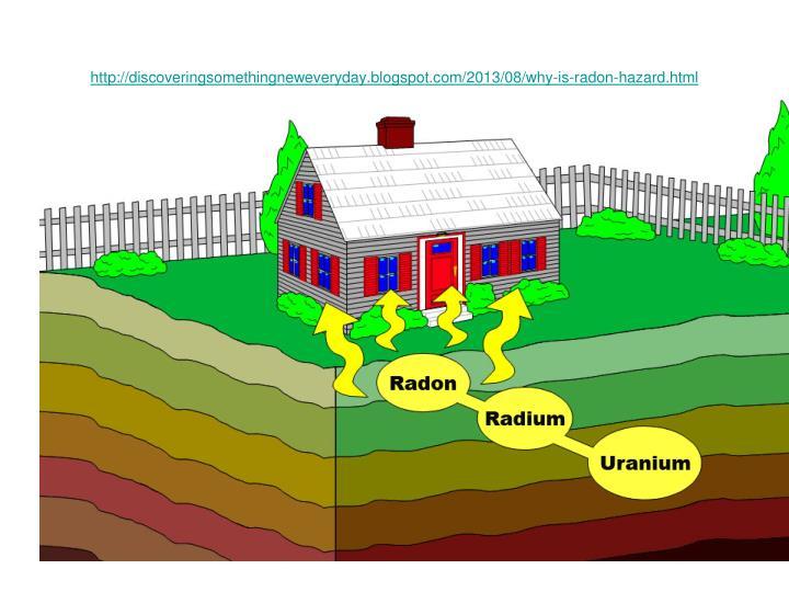 http://discoveringsomethingneweveryday.blogspot.com/2013/08/why-is-radon-hazard.html