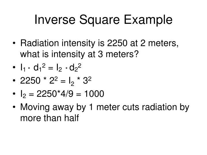 Inverse Square Example