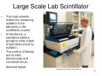 large scale lab scintillator