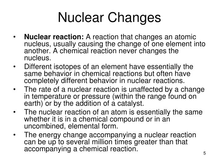 Nuclear reaction: