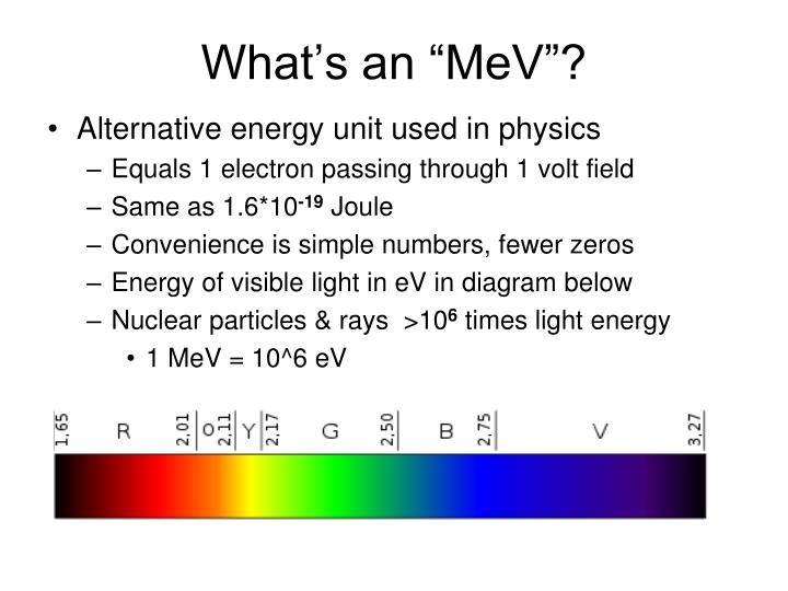 "What's an ""MeV""?"
