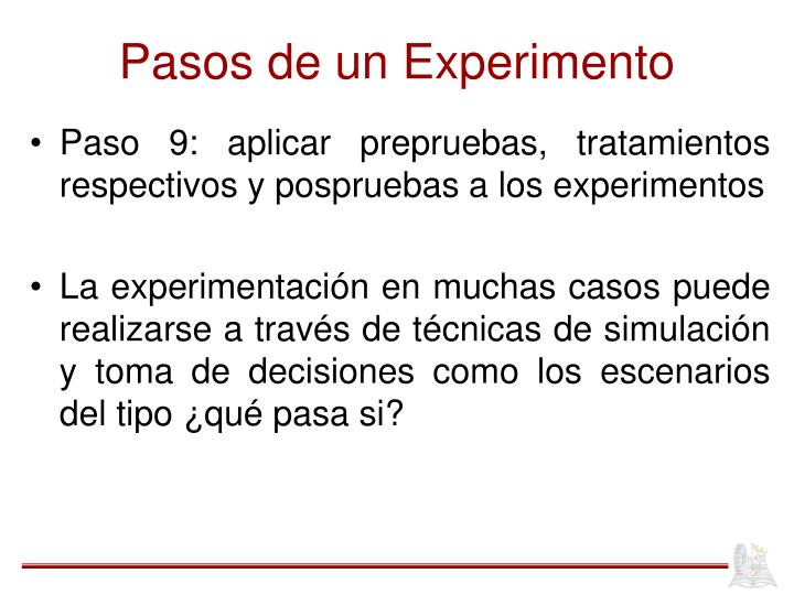 Pasos de un Experimento