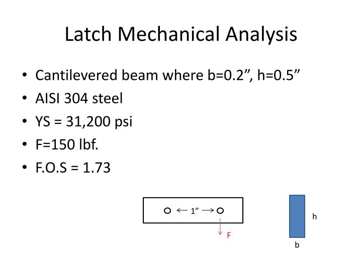 Latch Mechanical Analysis