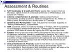 assessment routines