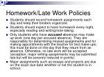homework late work policies