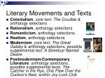 literary movements and texts