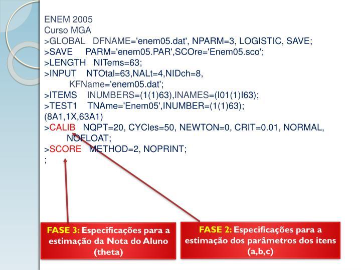 ENEM 2005