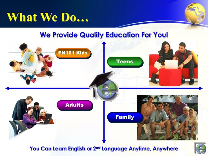 We Provide Quality Education For You!