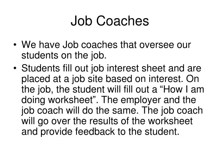 Job Coaches