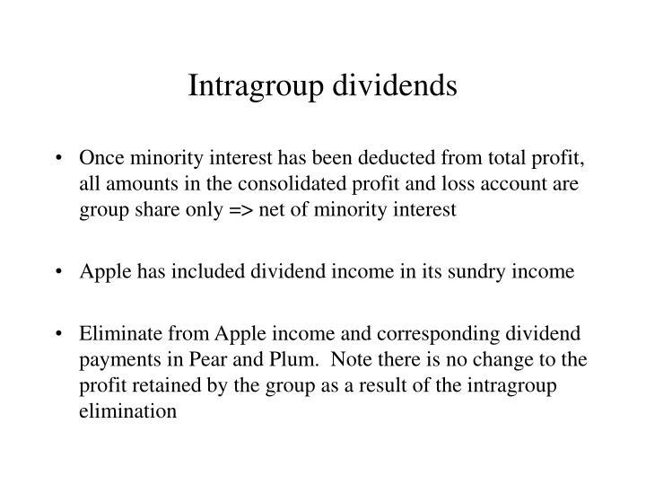Intragroup dividends