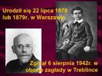 urodzi si 22 lipca 1878 lub 1879r w warszawie
