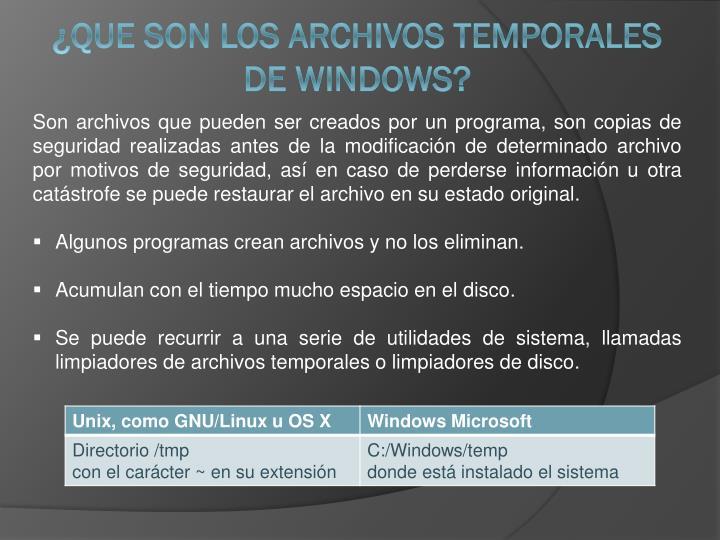 Son archivos que pueden ser creados por un programa, son copias de seguridad