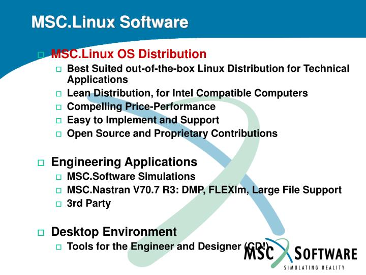 MSC.Linux Software