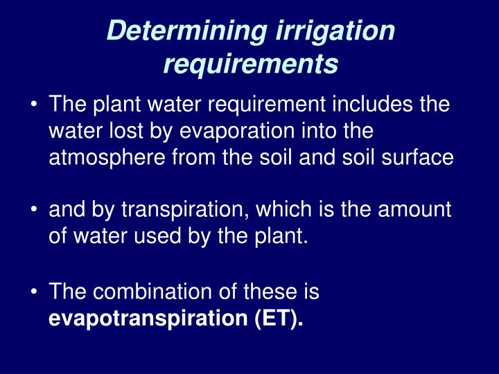Determining irrigation requirements
