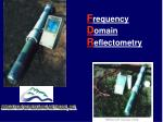 f requency d omain r eflectometry