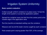 irrigation system uniformity1