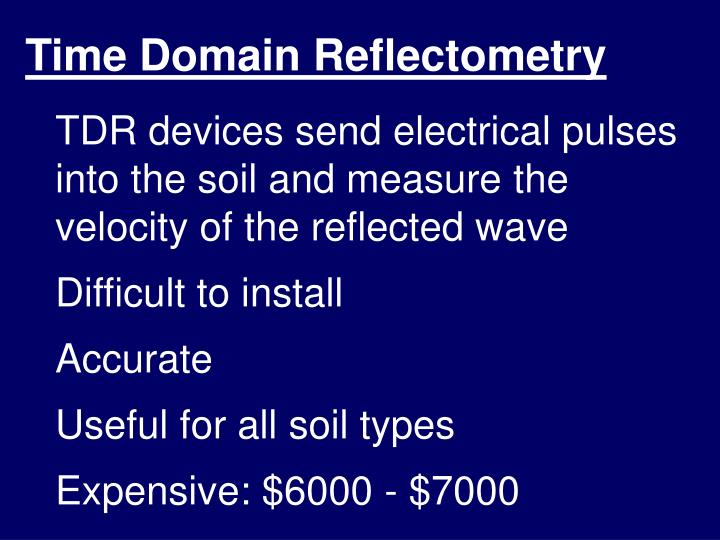 Time Domain Reflectometry