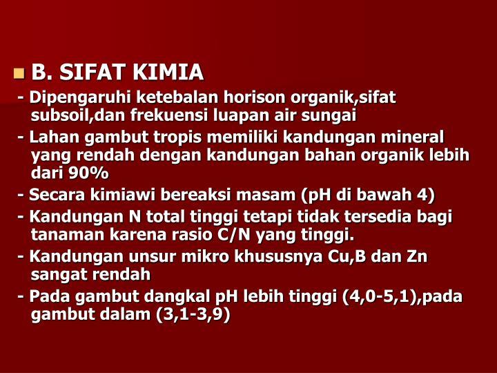 B. SIFAT KIMIA