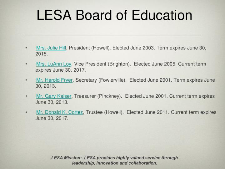Lesa board of education
