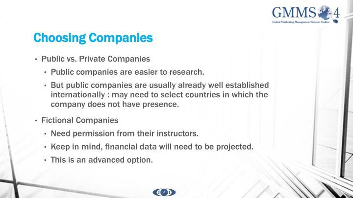 Choosing Companies