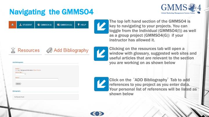 Navigating  the GMMSO4