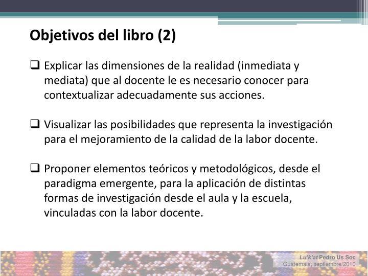 Objetivos del libro (2)