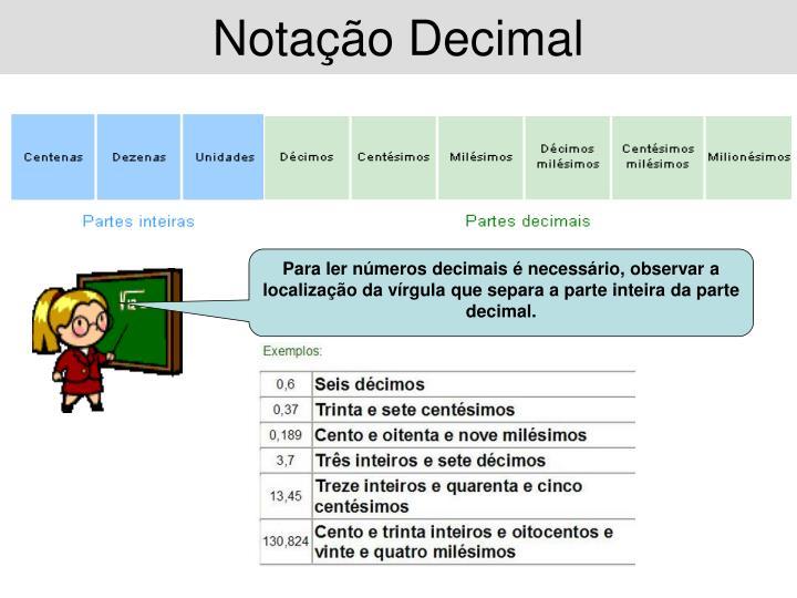 Notação Decimal