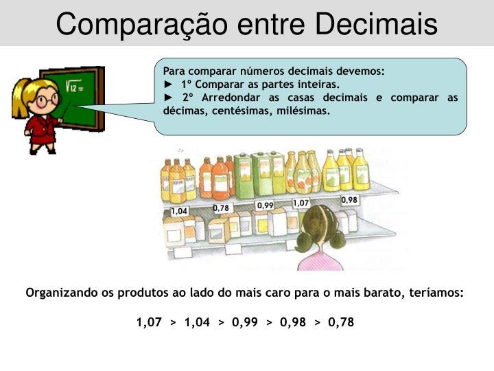 Comparação entre Decimais