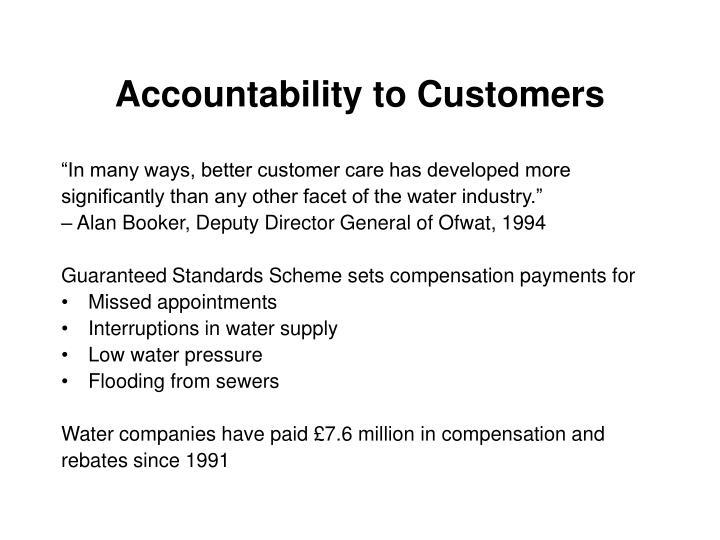 Accountability to Customers