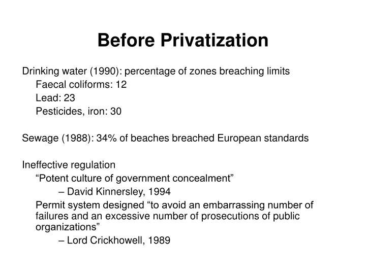 Before Privatization