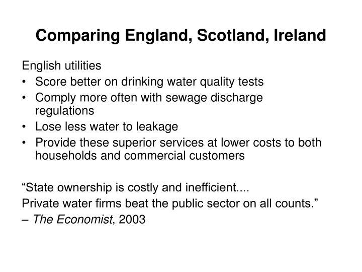 Comparing England, Scotland, Ireland