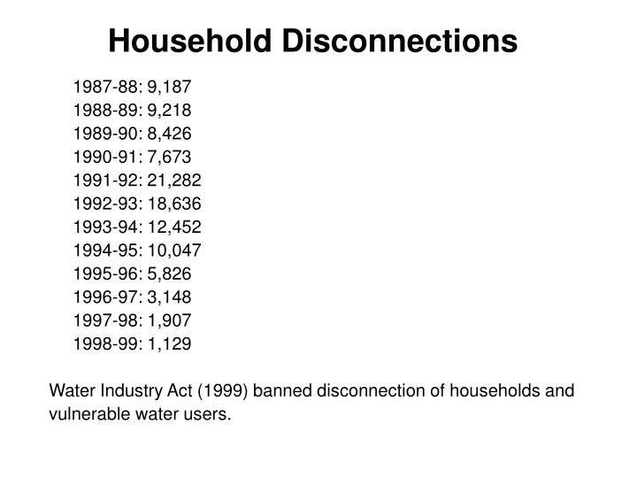 Household Disconnections