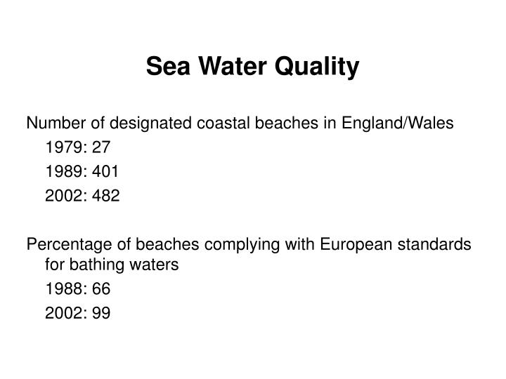 Sea Water Quality