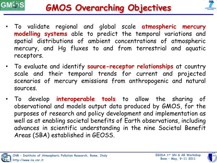 GMOS Overarching Objectives