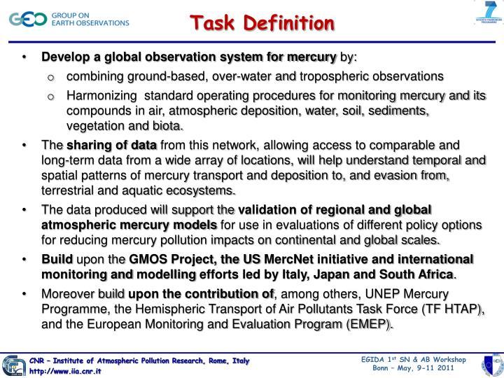 Task Definition