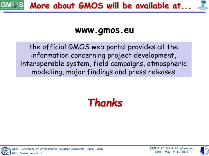 More about GMOS will be available at...