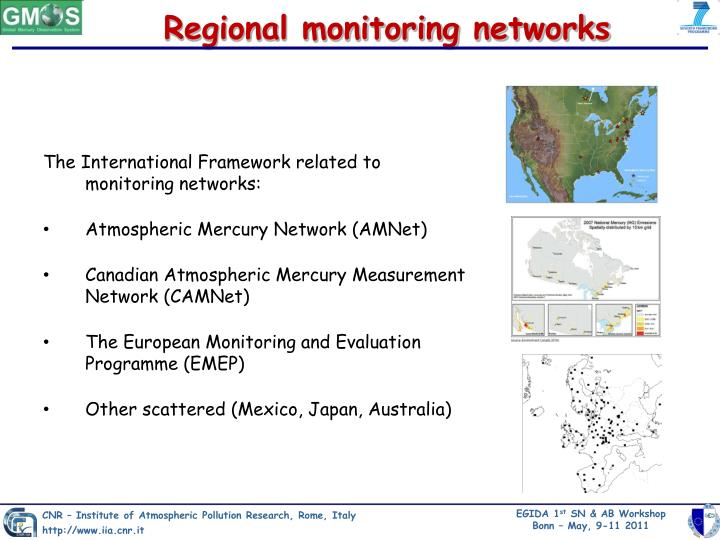 Regional monitoring networks
