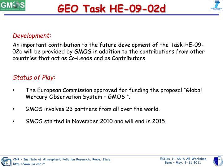 GEO Task HE-09-02d