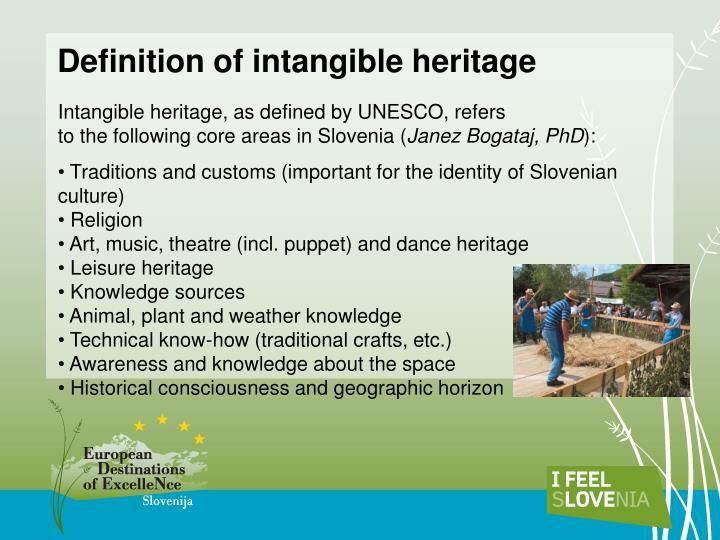 Definition of intangible heritage