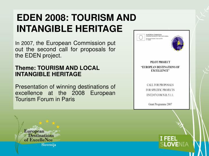 EDEN 2008: TOURISM AND INTANGIBLE