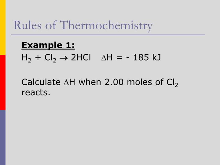 Rules of Thermochemistry