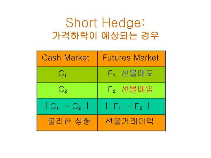 Short Hedge: