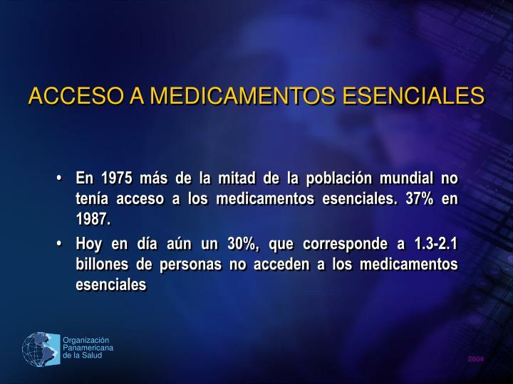 ACCESO A MEDICAMENTOS ESENCIALES