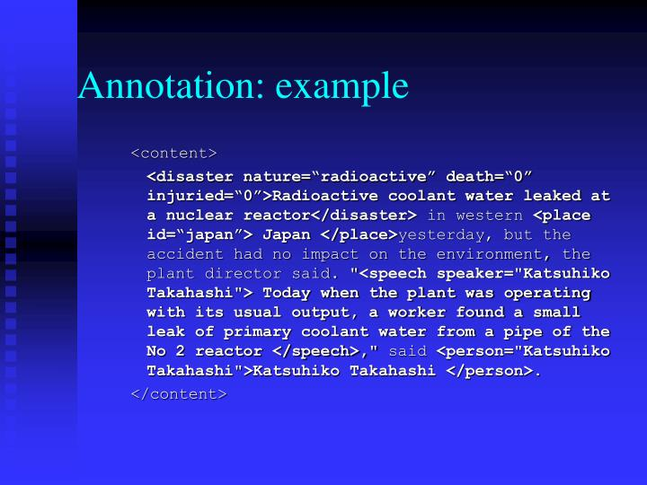 Annotation: example